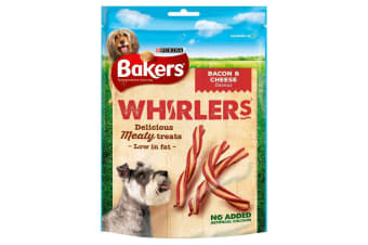 Bakers Whirlers Bacon And Cheese Twist Dog Treats (6 Packs) (May Vary) (6 x 175g)
