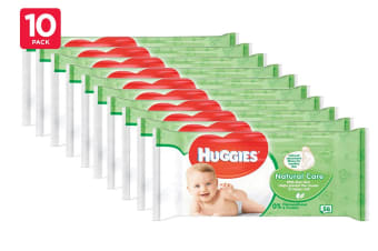 560 Huggies Natural Care Baby Wipes (10 x 56 Pack)