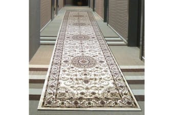 Medallion Runner Ivory with Ivory Border 400x80cm