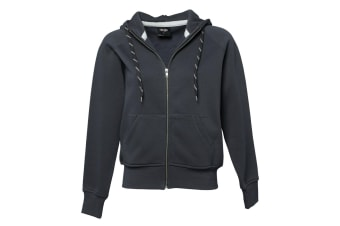 Tee Jays Womens/Ladies Full Zip Hooded Sweatshirt (Dark Grey) (L)
