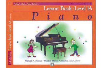 Alfred's Basic Piano Lesson Book Level 1A