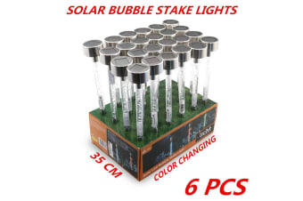 6 x Colorful LED Garden Stake Light Solar Powered Landscape Path Lawn Yard Lamp 35cm
