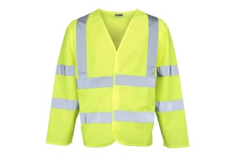 RTY High Visibility Unisex High Vis Motorway Coat (Pack of 2) (Fluorescent Yellow)