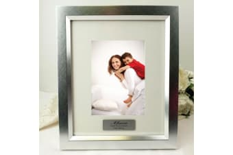 Mum Personalised Photo Frame 5x7 Photo Silver