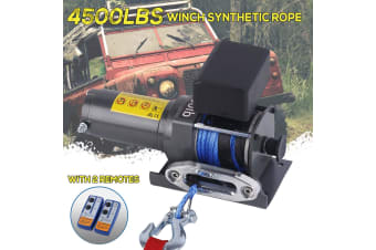 4500LBS / 2042KG Electric Winch Synthetic Rope ATV 4WD BOAT 12V Wirless Remotes