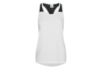 AWDis Just Cool Womens/Ladies Girlie Smooth Workout Sleeveless Vest (Arctic White) (M)