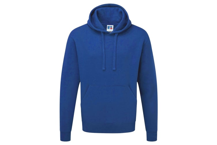 Russell Mens Authentic Hooded Sweatshirt / Hoodie (Bright Royal) (S)