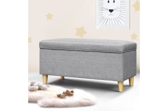 Artiss Storage Ottoman Kids Foot Stool Blanket Box Toy Sofa Chair Bed Fabric GY