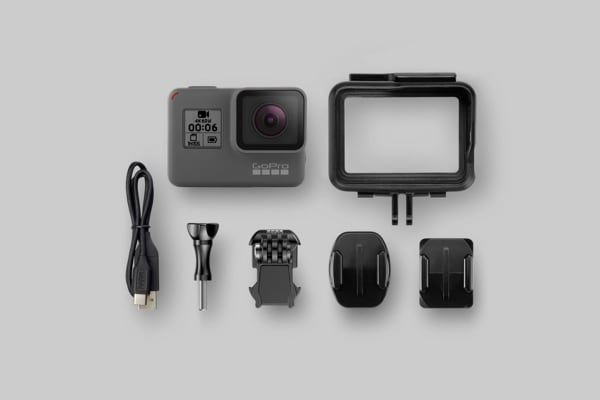 GoPro HERO6 Black Waterproof 4K Video Action Camera with QuikStories