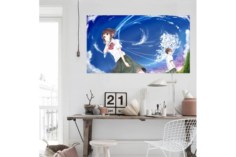 3D Your Name 28 Anime Wall Stickers Self-adhesive Vinyl, 80cm x 80cm(31.5'' x 31.5'') (WxH)