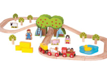 Bigjigs Farm Train Set - 44pcs