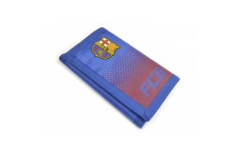 FC Barcelona Unisex Fade Design Wallet (Blue/Red) (One Size)