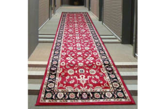 Classic Runner Red with Black Border 300x80cm