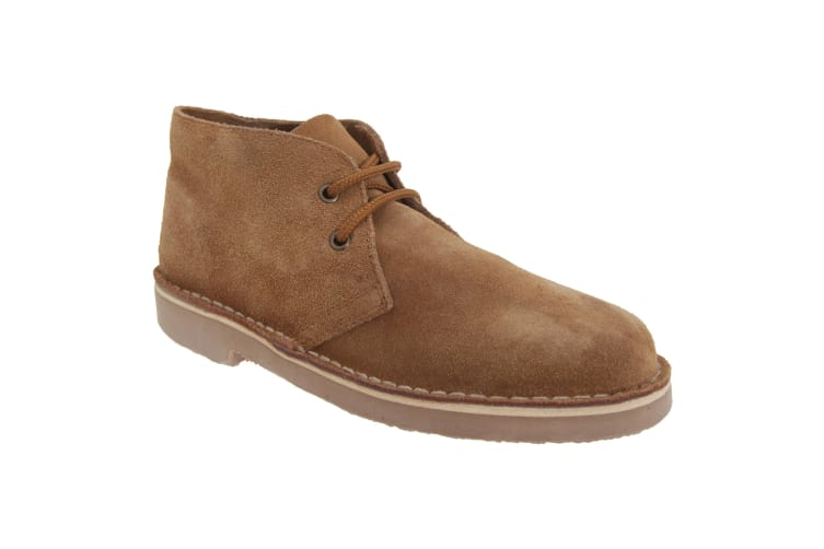 Roamers Adults Unisex Real Suede Unlined Desert Boots (Sand) (14 UK)