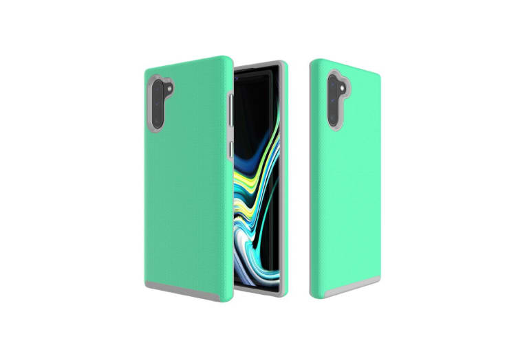 Anti-slip Armor Texture TPU + PC Case For Galaxy Note10  Green