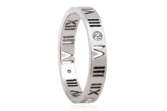 Roman Reign Ring-Silver/Clear Size US 8