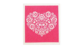 Retro Kitchen Swedish Dish Cloth Heart