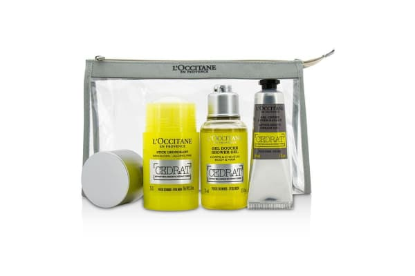 L'Occitane Cedrat Energizing Kit: Deodorant Stick 75g/2.5oz + Shower Gel 75ml/2.5oz + After Shave Cream Gel 30ml/1oz (3pcs)