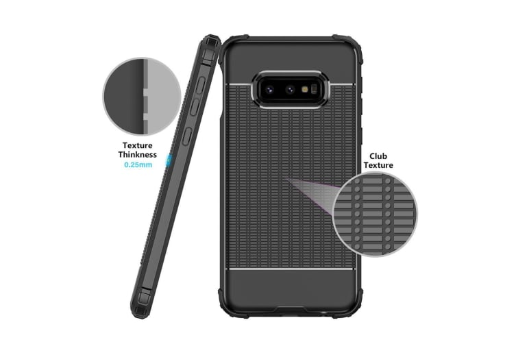 For Samsung Galaxy S10e Case Blue Dotted Texture Shockproof TPU Back Cover