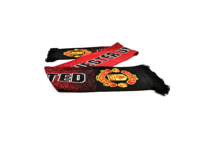 Manchester United FC Unisex Adults Speckled Scarf (Red) (One Size)