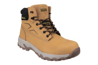 Stanley Mens Tradesman Lace Up Penetration Resistant Safety Boots (Honey)