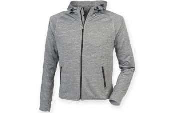 Tombo Teamsport Womens/Ladies Lightweight Running Hoodie With Reflective Tape (Grey Marl)