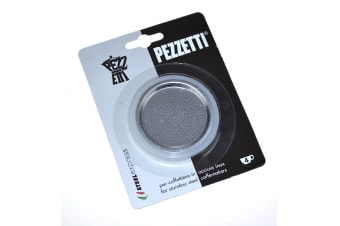 Pezzetti Silicone Ring Gasket + Filter Plate For Stainless Steel Coffee Percolators-4 Cup