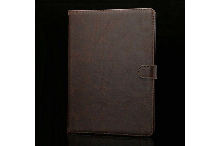 Luxury Leather Smart Case Cover For Galaxy Tab A 10.1(2016)T580/T585-Coffeee