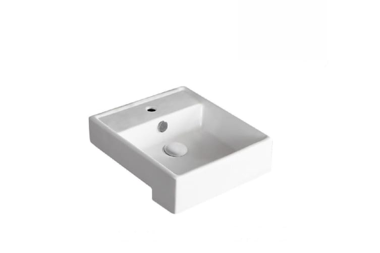 Fienza Semi Recessed Ceramic Basin Helen Junior 1th White 2041B