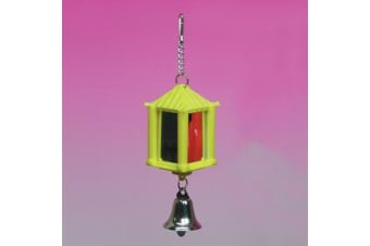Latern Mirror with Bell Bird Toy