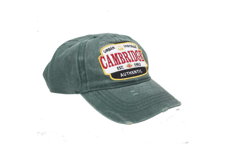 Cambridge Unisex Adults Distressed Baseball Cap (Forest) (One Size)