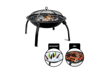 3 in 1 Round Portable Outdoor Fire Pit BBQ