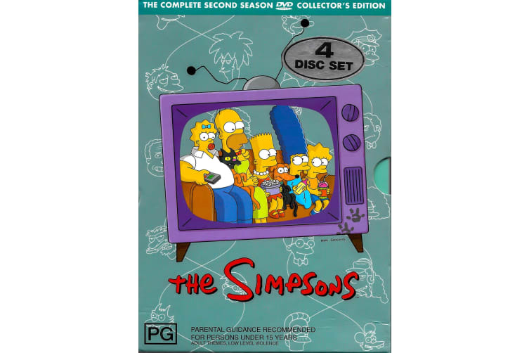 The Simpsons The Complete Second Season Collector's Edition 4 Disc Set