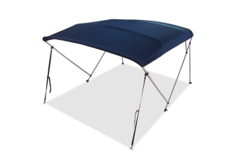 3 Bow Navy Blue Boat Bimini Top 1.3m to 1.5m