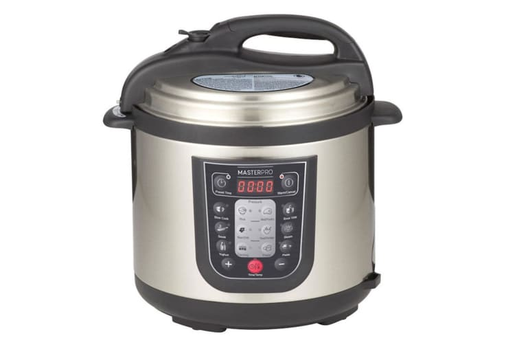 MasterPro 6L Electric Stainless Steel 12 in 1 MultiCooker PressureCooker w Timer