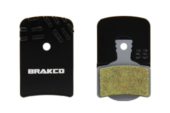 Brakco Organic Disc Pads With Heat-dissipation Fin For Magura Mt2/4/6
