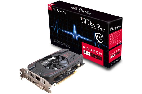 Sapphire AMD PULSE RX 560 2GB 45W Version Gaming Video Card - Draw Power from PCI-E GDDR5 DP/HDMI/DVI AMD Eyefinity 1216MHz (LS)