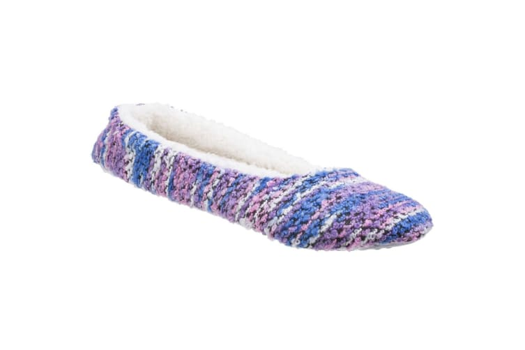 Divaz Womens/Ladies Morzine Knitted Slippers (Purple) (Small)