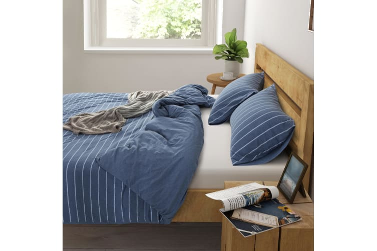 Dreamaker Cotton Jersey Quilt Cover Set Canberra Single Bed