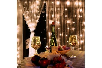 Led Curtain Lights Wedding Indoor Outdoor Christmas Garden Party WARM WHITE