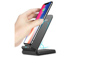 Qi Wireless Fast Charger Charging Stand Dock Pad for Samsung Galaxy S8 / S8+ / Note 8 iPhone X / 8 Plus 8 - BLACK