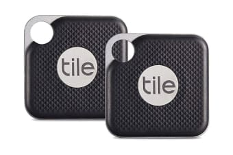 2 Pack Tile Mate Pro Bluetooth Tracker with Replaceable Battery - Black (TI-EC-15002)