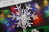 20 Led Solar String Light Snowflake Rgb