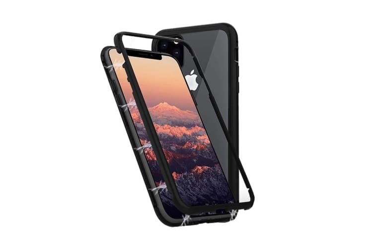Cygnett Ozone Magnetic 9H Double Tempered Glass Case for iPhone 11 Pro Max - Black (CY2940OZOMG)