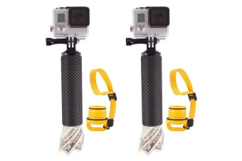 2PK Vivitar Floating Hand Grip Holder Handheld Mount f/ Action Camera/Go Pro BLK