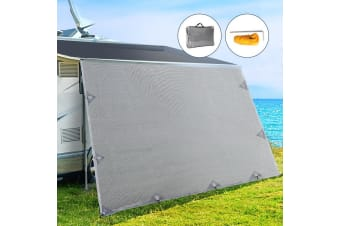4M Caravan Privacy Screen Screens End Wall Side Shade Roll Out Awning