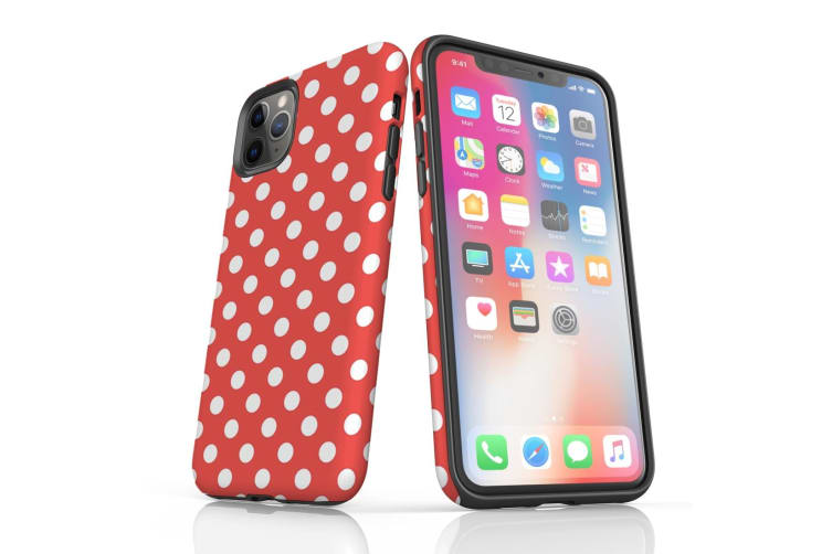 For iPhone 11 Pro Protective Case Unique Phone Cover  Polka Dot Brown