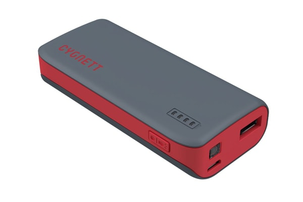Cygnett ChargeUp Sport 4400mAh Power Bank - Red (CY1421PBCUS)