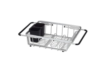Davis & Waddell 54cm Essentials Remo Expandable Over Sink Drying Dish Rack SLV
