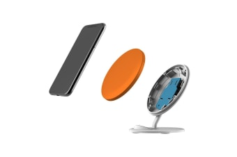 QI Wireless Charger For iPhone XR XS MAX Samsung Galaxy S10 S10+ S10e  Orange